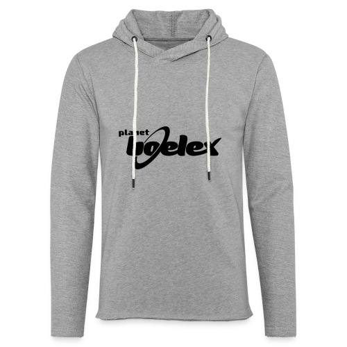 Planet Boelex logo black - Light Unisex Sweatshirt Hoodie