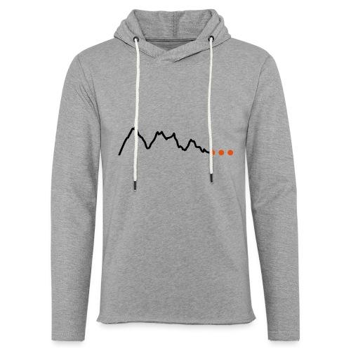 Höhenprofil-Gebirge - Leichtes Kapuzensweatshirt Unisex