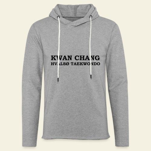 hvals tkd txt - Let sweatshirt med hætte, unisex