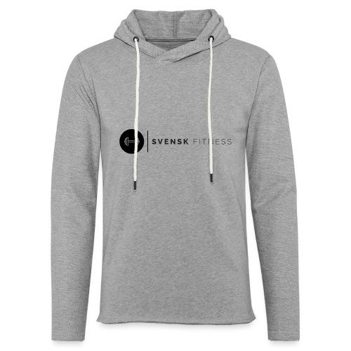 Svart logo - Lätt luvtröja unisex
