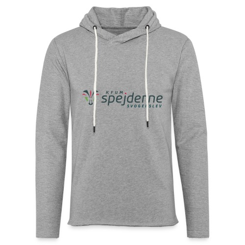 Logo i farver - Let sweatshirt med hætte, unisex