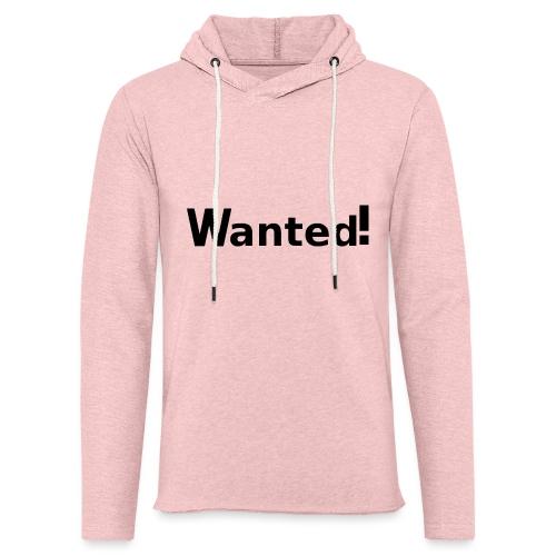Wanted. schwarz - Leichtes Kapuzensweatshirt Unisex