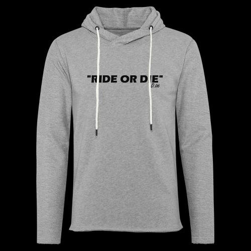 Ride or die (noir) - Sweat-shirt à capuche léger unisexe