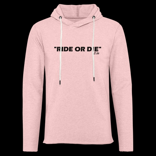 Ride or die (noir) - Sweat-shirt à capuche léger unisexe