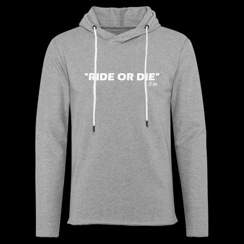 Ride or die (blanc) - Sweat-shirt à capuche léger unisexe