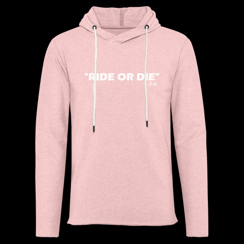 Ride or die (blanc) - Sweat-shirt à capuche léger unisexe