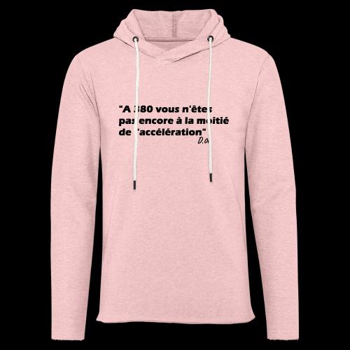 380 noir - Sweat-shirt à capuche léger unisexe