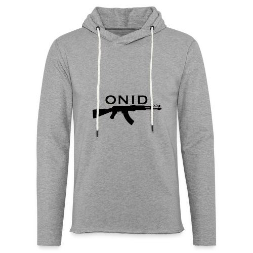 logo ONID-22 nero - Felpa con cappuccio leggera unisex