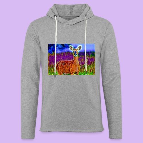 Cerbiatto con magici effetti - Felpa con cappuccio leggera unisex