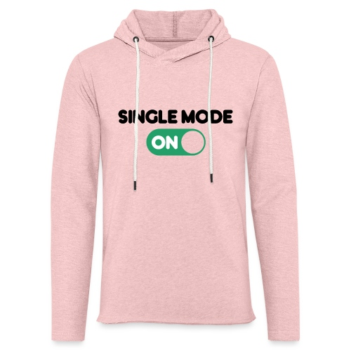 single mode ON - Felpa con cappuccio leggera unisex