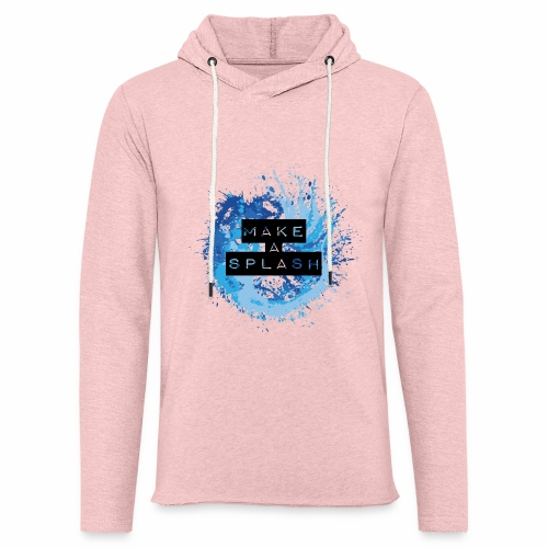 Make a Splash - Aquarell Design in Blau - Leichtes Kapuzensweatshirt Unisex