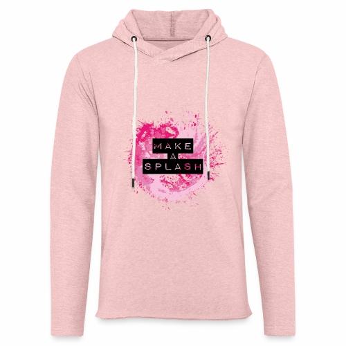 Make a Splash - Aquarell Design - Leichtes Kapuzensweatshirt Unisex