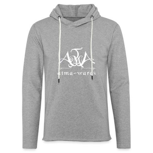 atma wares logo white - Lichte hoodie unisex