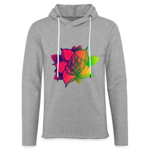 rose tricolore - Sweat-shirt à capuche léger unisexe