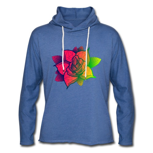 rose tricolore - Sweat-shirt à capuche léger unisexe