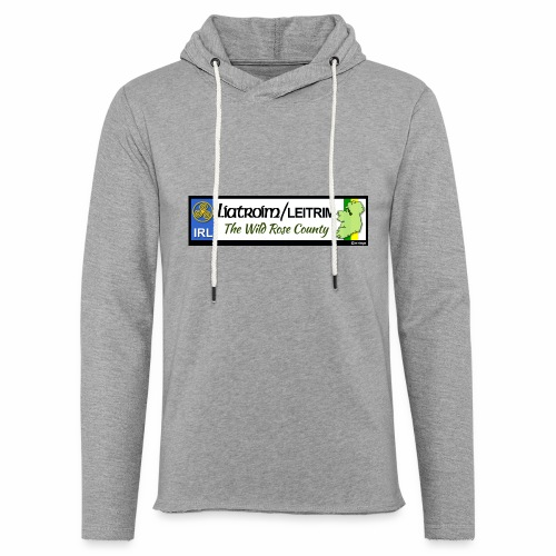 LEITRIM, IRELAND: licence plate tag style decal eu - Light Unisex Sweatshirt Hoodie