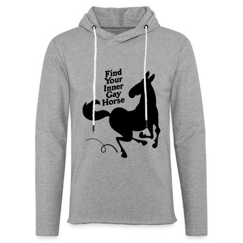 Find your inner gay horse - Lätt luvtröja unisex