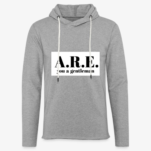 ARE you a gentleman - Light Unisex Sweatshirt Hoodie
