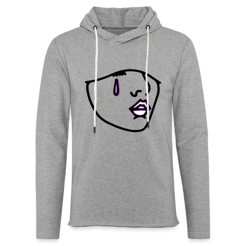 LOGO NOIR CONTOUR - Sweat-shirt à capuche léger unisexe