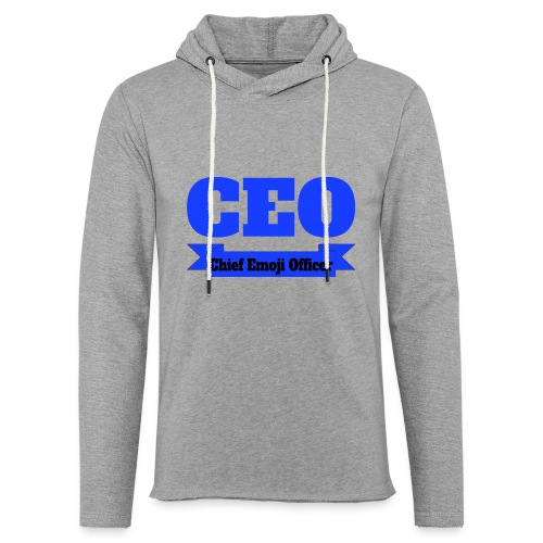 CEO - Chief Emoji Officer - Leichtes Kapuzensweatshirt Unisex