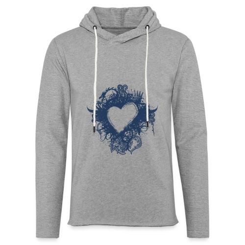 serce - Lekka bluza z kapturem