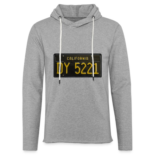 CALIFORNIA BLACK LICENCE PLATE - Light Unisex Sweatshirt Hoodie