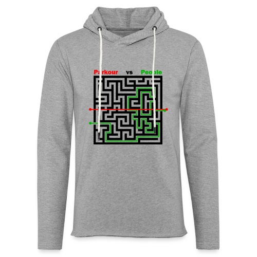 Parkour Maze parkour vs people - Let sweatshirt med hætte, unisex