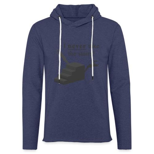 I Never Take The Stairs Grey Parkour - Let sweatshirt med hætte, unisex