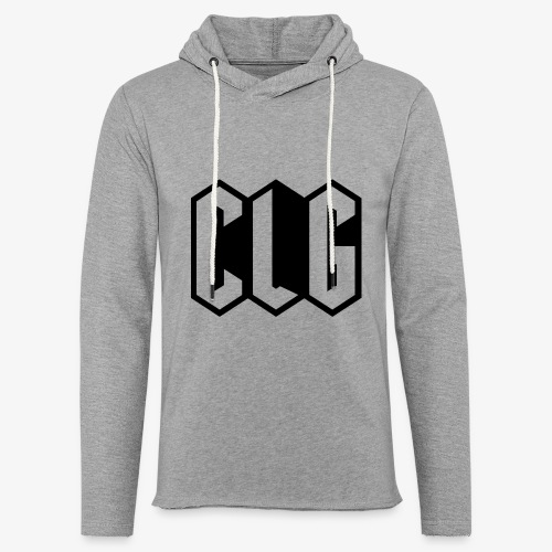 CLG DESIGN black - Sweat-shirt à capuche léger unisexe