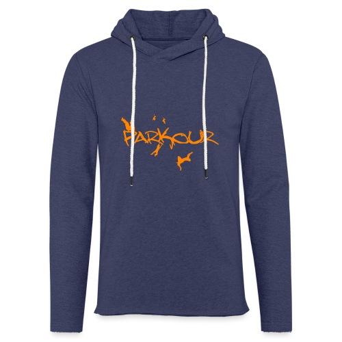Parkour Orange - Let sweatshirt med hætte, unisex