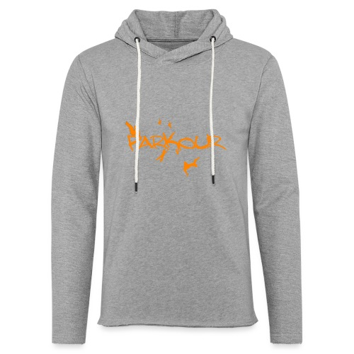 Parkour Orange - Let sweatshirt med hætte, unisex