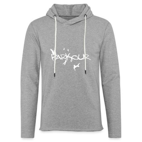 Parkour White Print - Let sweatshirt med hætte, unisex