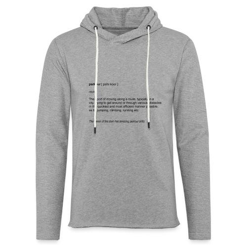 parkour dictionay - Let sweatshirt med hætte, unisex