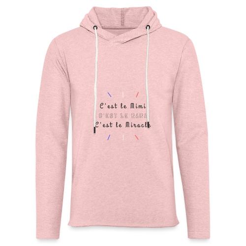 Miracle - Sweat-shirt à capuche léger unisexe