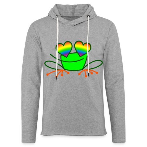 Pride Frog in Love - Light Unisex Sweatshirt Hoodie