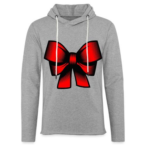 Schleife rot - Leichtes Kapuzensweatshirt Unisex
