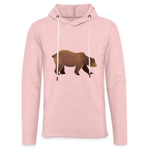 Silhouette eines Bären in Brauntönen - Leichtes Kapuzensweatshirt Unisex