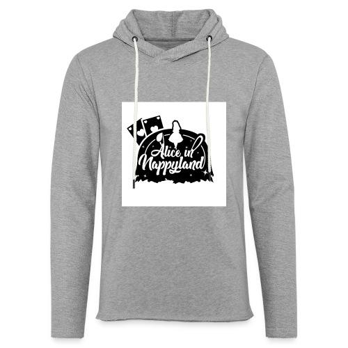 Alice in Nappyland TypographyWhite with background - Light Unisex Sweatshirt Hoodie