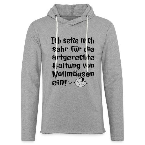 Wollmaus Staub Putzen Haushalt Wohnung Spruch - Leichtes Kapuzensweatshirt Unisex