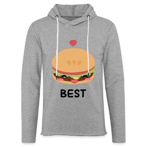 hamburger - Felpa con cappuccio leggera unisex