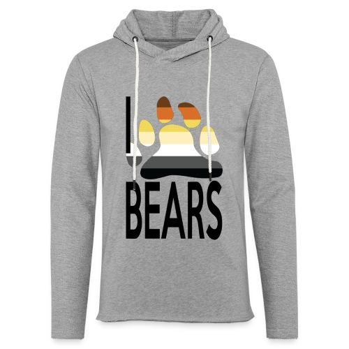 I love bears - Sweat-shirt à capuche léger unisexe