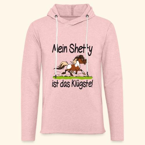 Mein Shetty ist das Klugste (Text Schwartz) - Sweat-shirt à capuche léger unisexe