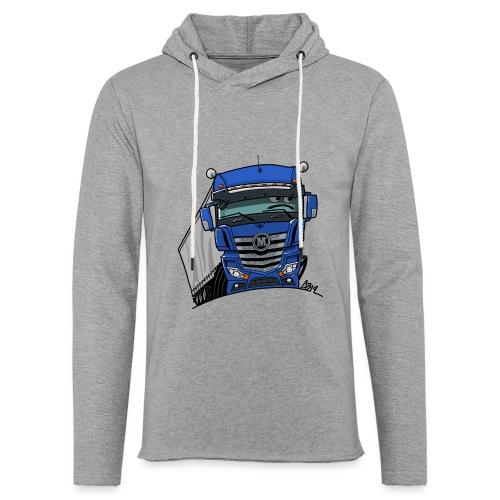 0807 M truck blauw trailer - Lichte hoodie unisex