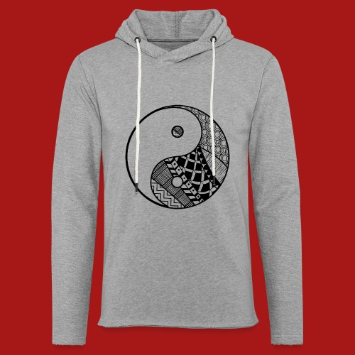 Decorative-Yin-Yang - Let sweatshirt med hætte, unisex