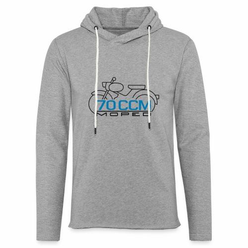 Moped sparrow 70 cc emblem - Light Unisex Sweatshirt Hoodie