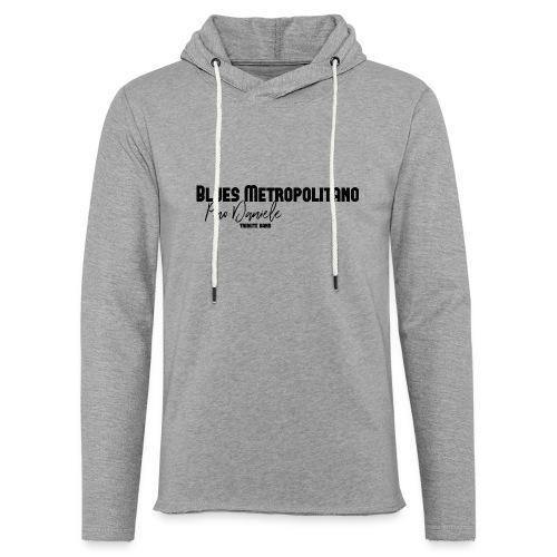 BM logo nero - Felpa con cappuccio leggera unisex