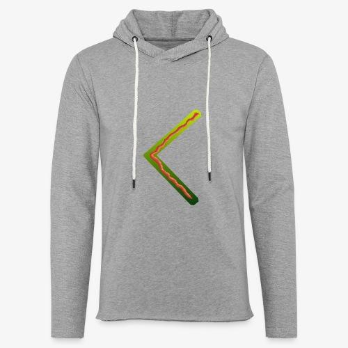 Farbenfrohes Runenmotiv in Trendfarben - Leichtes Kapuzensweatshirt Unisex