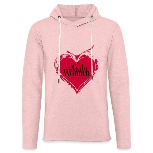Nasty Woman ART Heart - Leichtes Kapuzensweatshirt Unisex