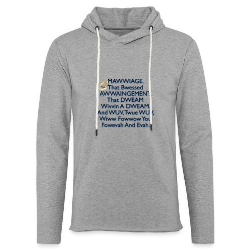 Mawwiage (blue) - Light Unisex Sweatshirt Hoodie