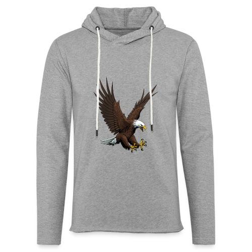 Adler sturzflug - Leichtes Kapuzensweatshirt Unisex